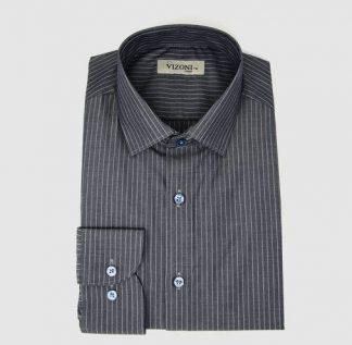 grey striped dress shirt- 5ieme avenue