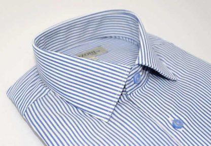 striped blue dress shirt - 5ieme avenue