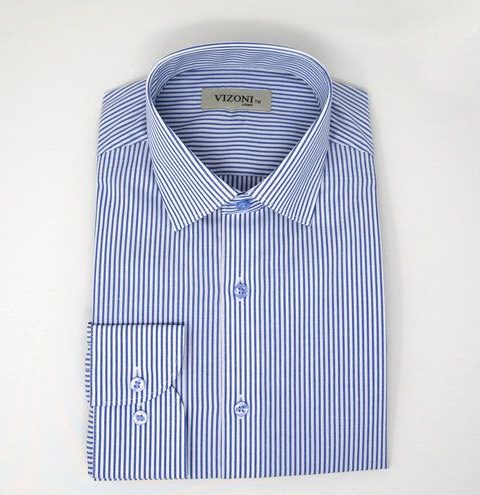 striped blue dress shirt - 5ieme avenue