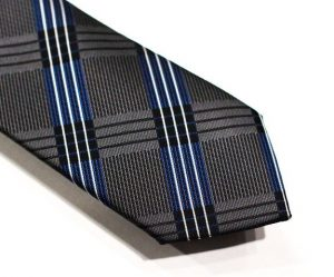 grey and blue 5ieme avenue tie