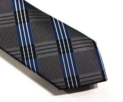 grey and blue 5ieme avenue tie