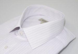 lilac pinstripe slim fit shirt 5ieme avenue