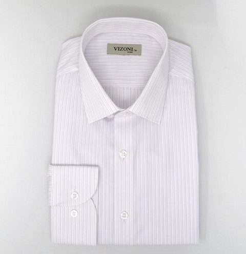 lilac pinstripe slim fit shirt 5ieme avenue