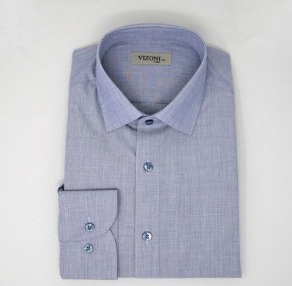 blue micro pattern slim fit shirt 5ieme avenue