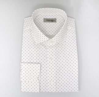 black dot slim fit shirt 5ieme avenue