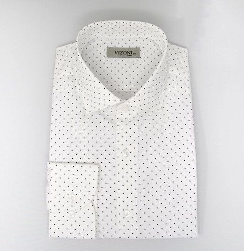 black dot slim fit shirt 5ieme avenue