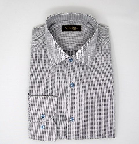 grey optical slim shirt 5ieme avenue
