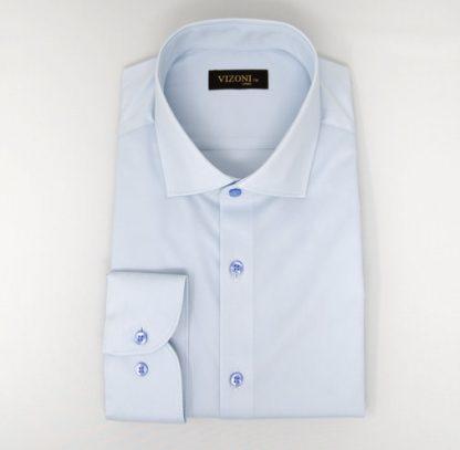 Light blue slim shirt 5ieme avenue