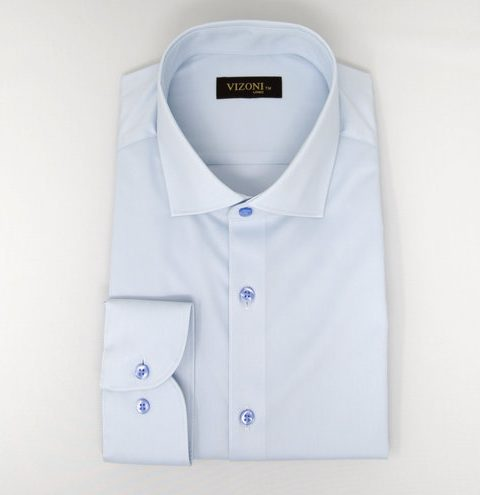 Light blue slim shirt 5ieme avenue