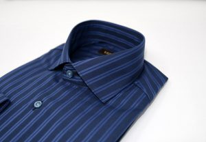 Navy Striped Slim Shirt 5ieme Avenue