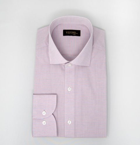 Pink Lined Slim Shirt 5ieme Avenue