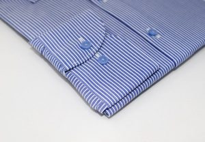 Royal Blue Pinstriped Slim Shirt