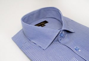 Royal Blue Pinstripe Slim Shirt