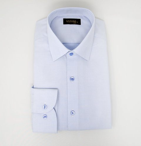 Blue Oxford Slim Shirt 5ieme Avenue