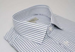 double blue pinstripe shirt_5ieme Avenue
