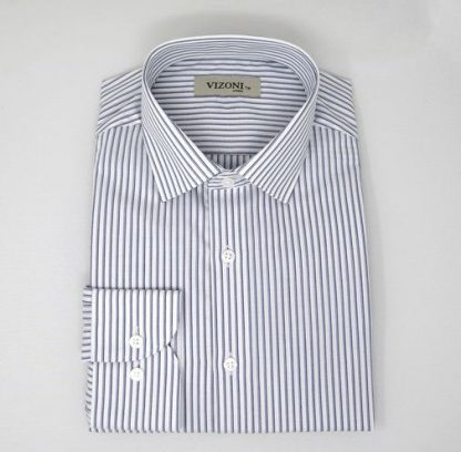 double blue pinstripe shirt_5ieme Avenue