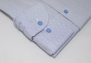 Blue Optic Strip Shirt 5ieme Avenue