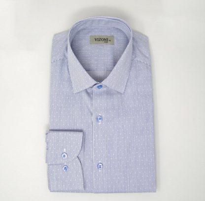 Blue Optic Strip Shirt 5ieme Avenue