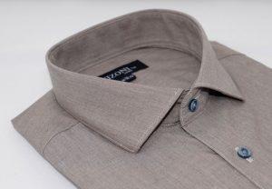 Taupe Brown Shirt 5ieme Avenue