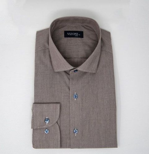 Taupe Brown Shirt 5ieme Avenue