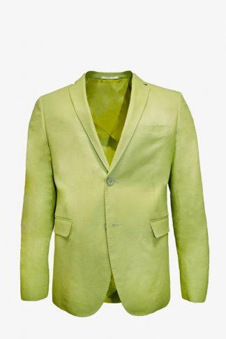 green apple linen blazer