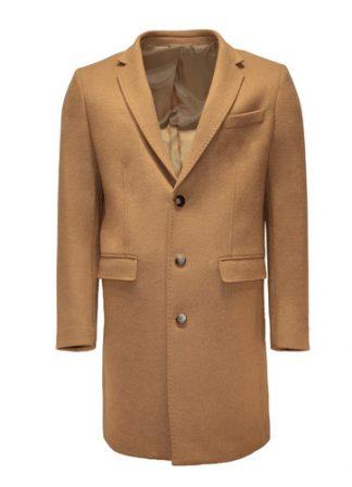 beige wool overcoat