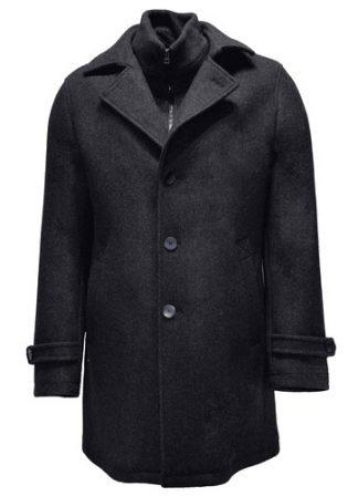 blue loden wool overcoat