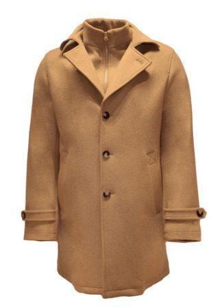 beige loden wool overcoat