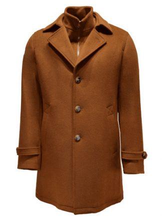 camel loden wool overcoat