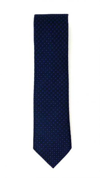 black and navy geometric patterned tie