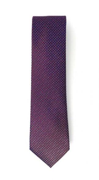 burgundy tone geometric patterned tie