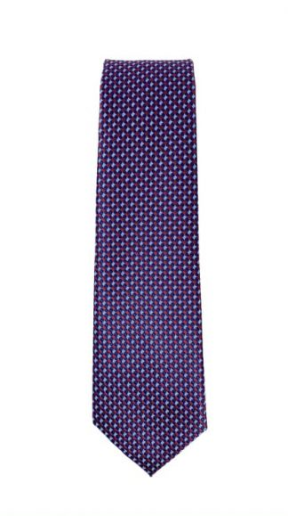 burgundy and navy patterned tie