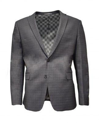 dark grey plaid suit