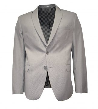 Houndstooth light grey suit
