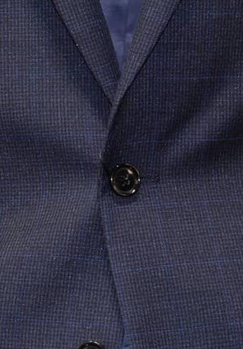Windowpane navy houndstooth suit zoom