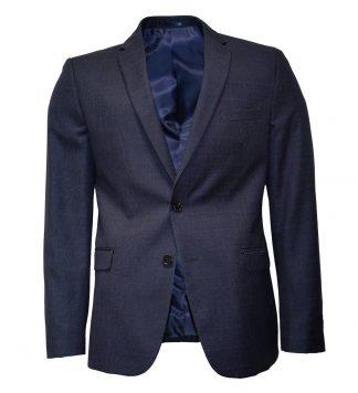Windowpane navy houndstooth suit
