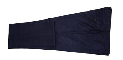Windowpane navy houndstooth suit pant
