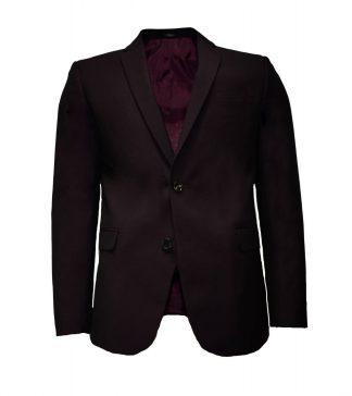 Crosshatch plum suit